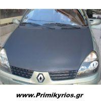 Carbon 3M σε Καπό Renault Clio